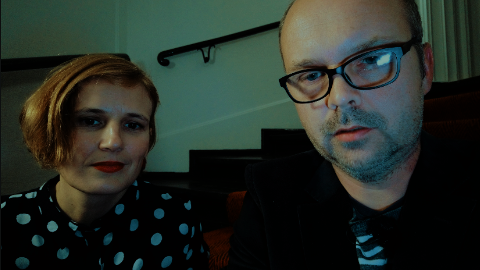 Katja Kipping und Timothy Speed